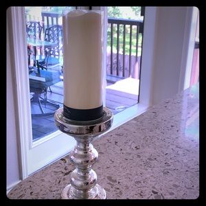 New and unused candle stand/ LED light up candle!